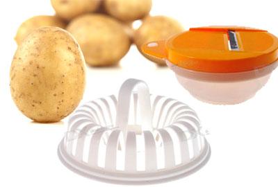 cortador y soporte para cocer las patatas